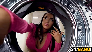 Latina Housewife doing laundry