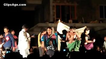 Public desi Telugu natukatti featuring local randis nude on stage