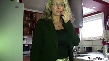 Horny MILF with MEGA tits fucked by boss at work