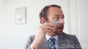 GIRLCORE Brandi Love Clears Boardroom to Fuck MILF thumbnail