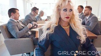 GIRLCORE Brandi Love Clears Boardroom to Fuck MILF 16 min