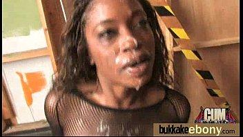 Ebony Slut Gets An Interracial Group Sex 30