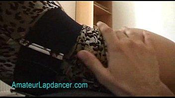 Wild Amateur Lapdances In Leopard Dress