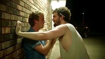 Austin Swift and Tom Felton (Draco Malfoy from Harry Potter) Gay Kiss from movie Braking For Whales | gaylavida.com
