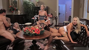 Brilliant babes are fucked hard in group pornhub video