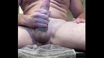 Stroking my cock for some friends online