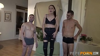 Telma's first threesome is an ANAL THREESOME!
