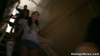 Teen Students Turn Off The Lights and Get Freaky on College Rules!