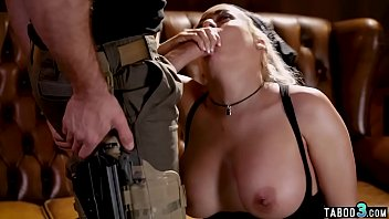 Big boobed babe got caught and fucked by border patrol