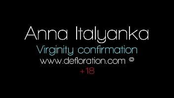 Brunette Anna Italyanka big tits virgin casting