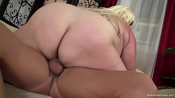 Amateur blonde BBW Trashly is hungry for a big cock