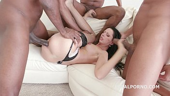 July Sun amazing interracial gangbang