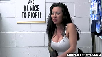 Tattooed Milf T hief Lily Lane Dont Want Any T Dont Want Any Trouble And Offers A Naughty Sex Deal With A Horny Security Office
