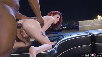 Tiny slut Lola Fae interracial pussy squirting and hardcore anal fucking