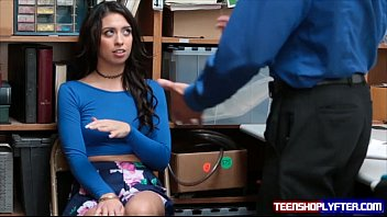 Teen theif with nice tits set straight by security