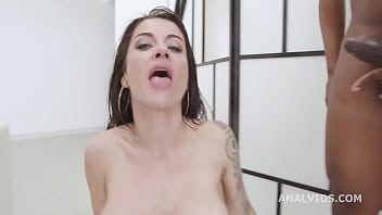 black pee bianka blue goes wet with 3 bbc with balls deep anal dap gapes pee d. and facial gio1662