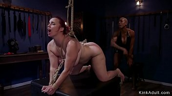 Ebony nun whips pawg slave