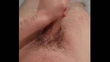 Bisexual boy jerking off in bath