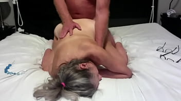 Mature mom and dad fuck doggystyle dad rides her ass then cums on her big dick cumshot 11 min