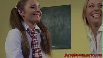 Busty Schoolgirl Dominated By Lesbian Babe