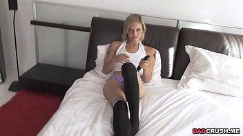 Blonde Madison Hart likes stepdaddys dick