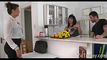 Tranny maid xxx video 666 Busty tgirl maid gets her anal slammed