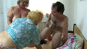 OldNanny BBW mature and Old granny with guy have nice treesome Image