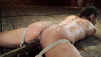 Petite Latina slave is waxed and toyed