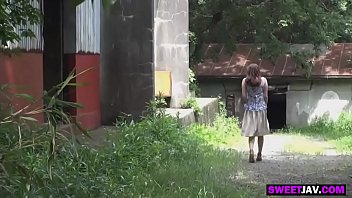 busty japanese girl fucked in the wood
