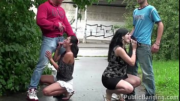 PUBLIC street orgy with a pregnant girl 14 min