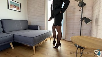 Sexy in business suits Dominant corporate bitch dildo play, business bitch