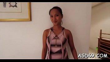 Thai Bombshell Gangbanged Hard