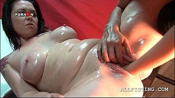 Brunette sex addict lesbo fisted on a chair...