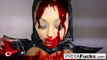 Halloween bloody tease h Indian MILF Priya Rai