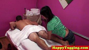 Busty asian spycam masseuse jerking thumbnail