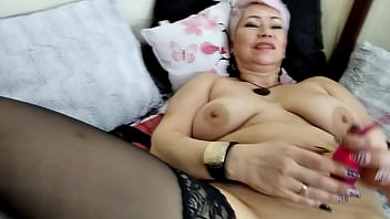 Gorgeous Russian Milf Pounds Herself In Both Holes With Different Dildos! Pussy in sperm))