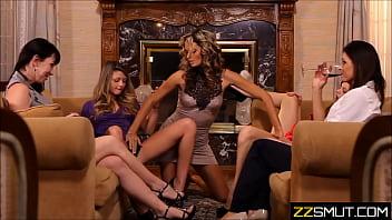 Lesbian family orgy