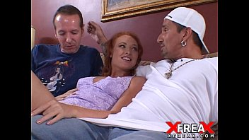 Nasty Redhead Invite At Home 2 Guys For Anal And Double Penetration