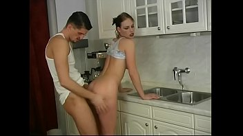 Vintage style kitchen faucets - Shes too sexy and he bangs her ass in the kitchen