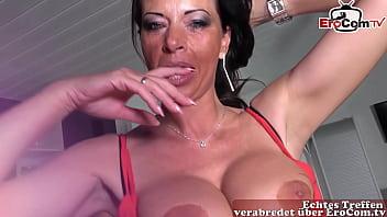 German Milf slut with big tits pick up at EroCom Date Casting Story