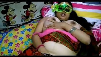 Desi Bhabhi legs wide open in front of her Son