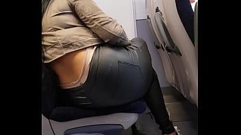 Chav ass Filmed on a train nice ass and panties