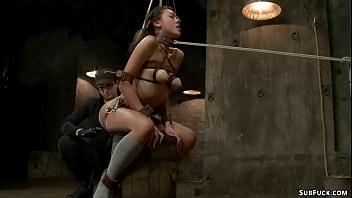 Asian lesbian anal fucked on hogtie 5 min