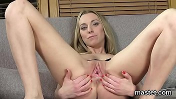 Nasty czech cutie opens up her slim cunt to the limit