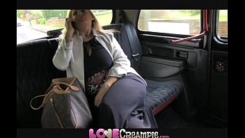 Love Creampie Busty and naughty British mom lets taxi driver cum inside 11 min