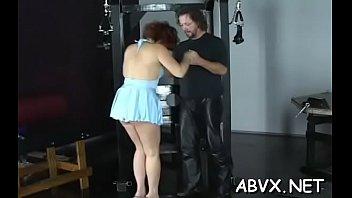 Top notch amateur bondage scenes with young beauty