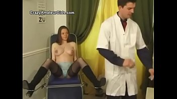 Pregnant woman fucked in the ass during the examination