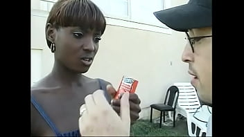 Young ebony chick with perky tits and red hair Chocolate told white dude that she needed something harder then ice cream to cum; his big dong would be fine tight arse