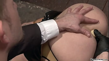 Master anal fucks bound MILF in latex
