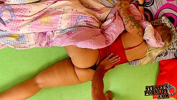 Wife In Silky Gown Gives Me A Sensual Handjob!